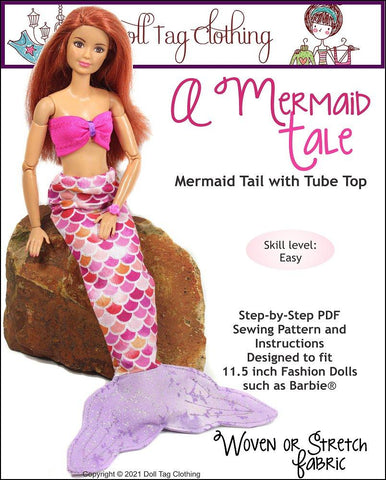 "Doll Tag Clothing Barbie A Mermaid Tale for 11.5"" Fashion Dolls Pixie Faire"