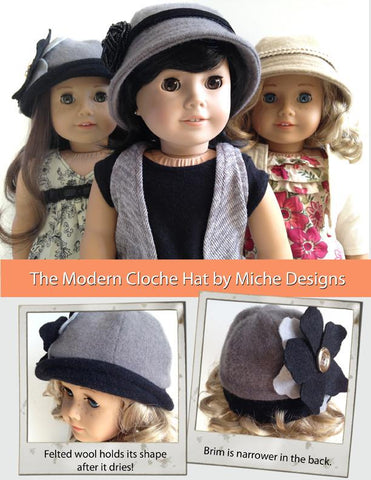 "Modern Cloche Hat 18"" Doll Accessories"