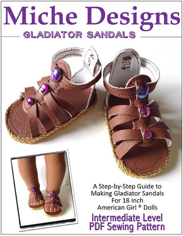 "Gladiator Sandals 18"" Doll Shoes"