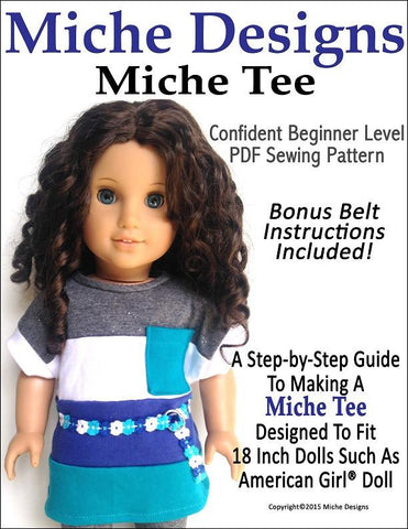 "Miche Tee 18"" Doll Clothes Pattern"
