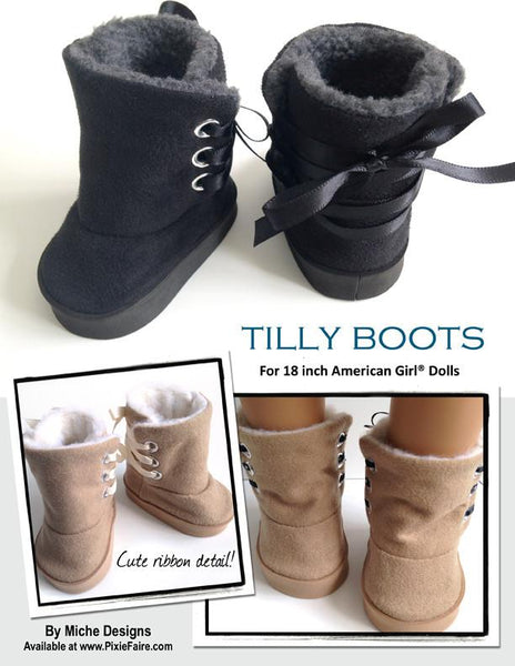 Tilly Boot 18 Inch Doll Shoes Pdf Pattern Download Pixie