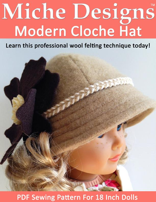Modern Cloche Hat 18 Inch Doll Accessories Pdf Pattern Download