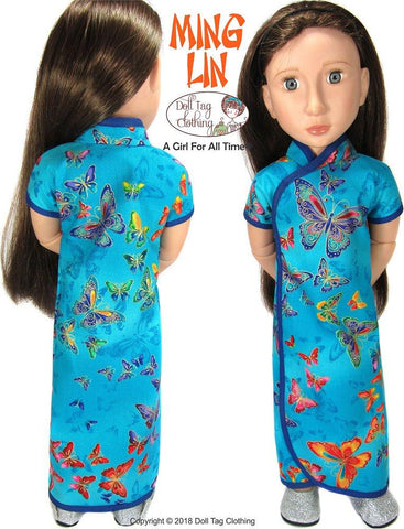 pdf doll clothes sewing pattern Doll Tag Clothing Ming Lin Designed to fit 16 inch A Girl For All Time dolls
