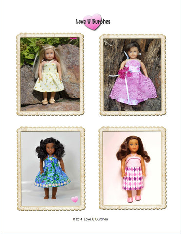 "Simply Summer Sundress Bundle 6"" and 18"" Doll Clothes Pattern"