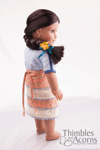 "Thimbles and Acorns 18 Inch Historical Minoan Wrap Skirt and Blouse 16"" and 18"" Doll Clothes Pixie Faire"