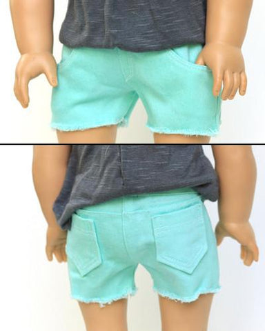 "Cut Off Shorts 18"" Doll Clothes Pattern"