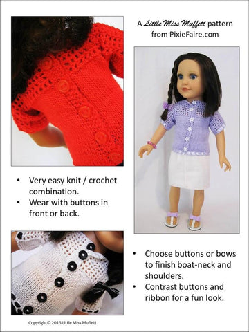Misty Morning Knitting and Crochet Pattern for Journey Girls Dolls