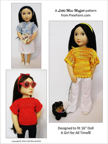 Misty Morning Knitting and Crochet Pattern for AGAT Dolls