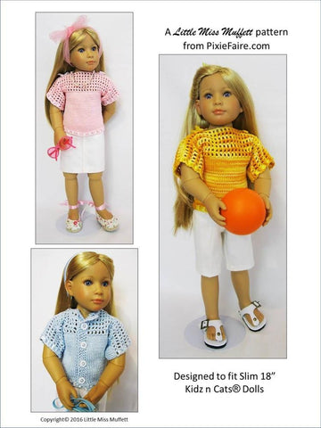 Misty Morning Knitting and Crochet Pattern for Kidz N Cats Dolls