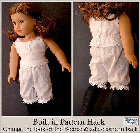 "Victorian Underthings 18"" Doll Clothes Pattern"