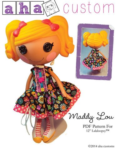 Maddy Lou Dress Pattern for Lalaloopsy Dolls