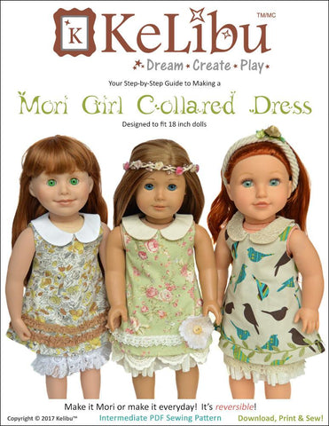 "Mori Girl Collared Dress 18"" Doll Clothes"