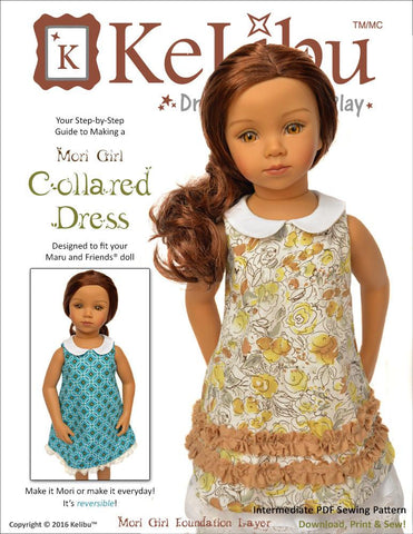 Mori Girl Collared Dress for Maru and Friends Dolls