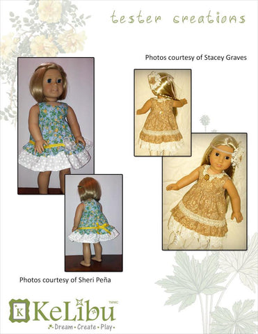 "Mori Girl Ruffled Dress 18"" Doll Clothes"