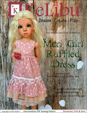 Mori Girl Ruffled Dress Pattern for MSD Ball Jointed Dolls