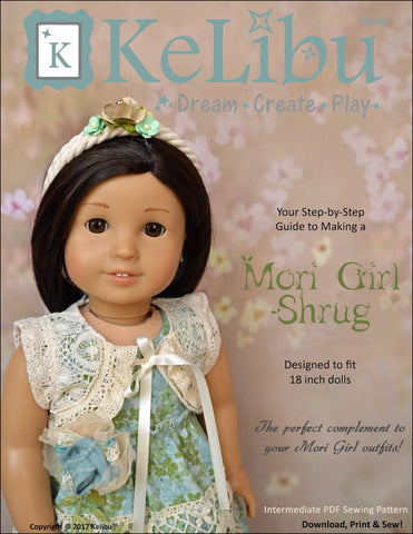 "Mori Girl Shrug 18"" Doll Clothes"