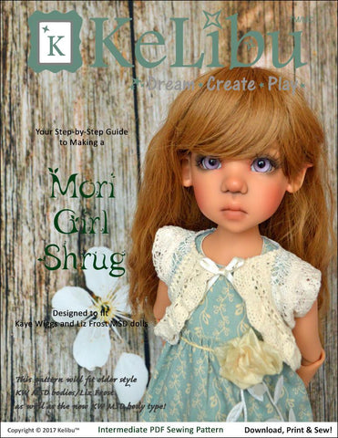 Mori Girl Shrug Pattern for MSD Ball Jointed Dolls