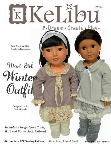 "Mori Girl Winter Outfit 18"" Doll Clothes"