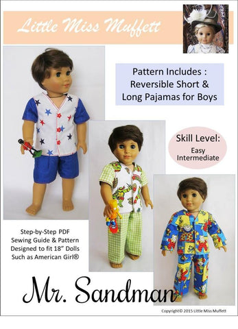 "Mr. Sandman 18"" Doll Clothes Pattern"