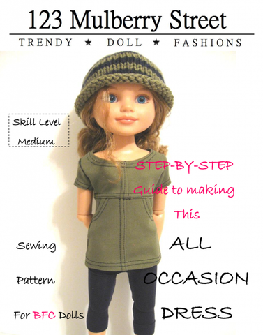 All Occasion Dress Pattern for BFC Ink Dolls