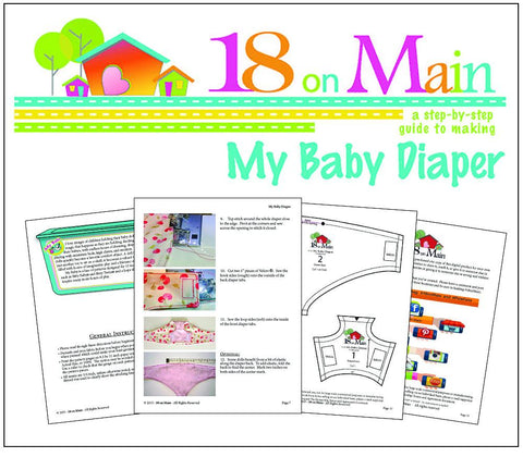 "My Baby Diaper 15"" Baby Doll Accessory Pattern"