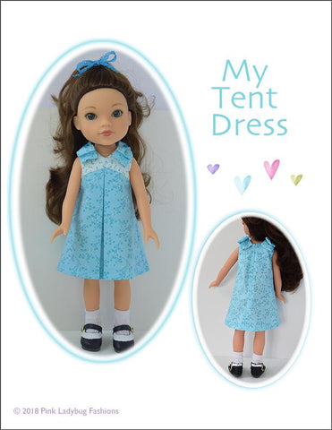 "My Tent Dress 14-14.5"" Doll Clothes Pattern"