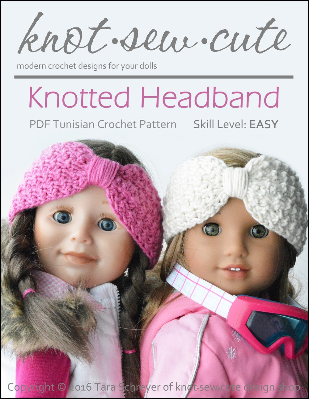 Knot-Sew-Cute Knotted Headband Doll Clothes Tunisian Crochet Pattern ...