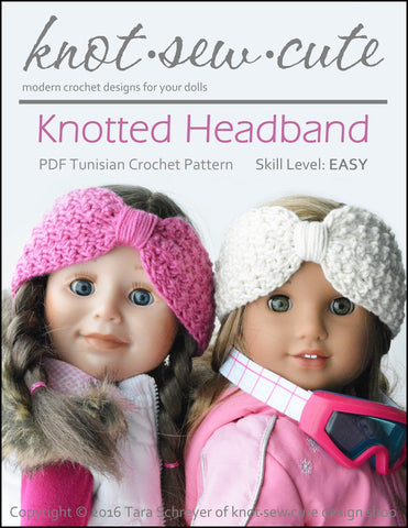 Knot-Sew-Cute Crochet Knotted Headband Crochet Pattern Pixie Faire