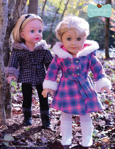 "The Warm Winter Coat  18"" Doll Clothes"