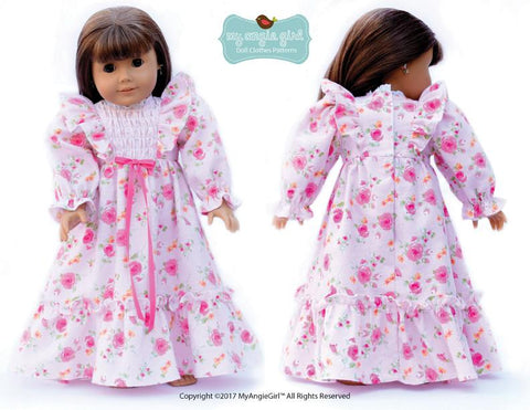 "Ruffled Nightgown 18"" Doll Clothes"