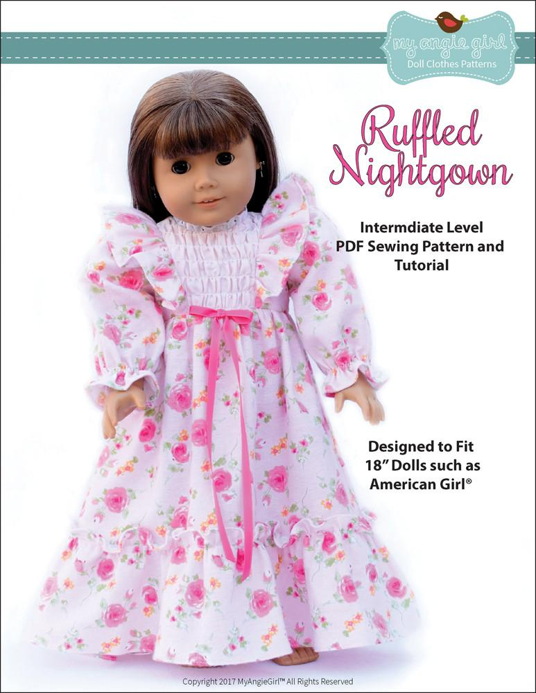 """Lot 4 Matching Bedding Set /& Nightgown for 18/"""" American Girl Doll Pink Bed Set"""