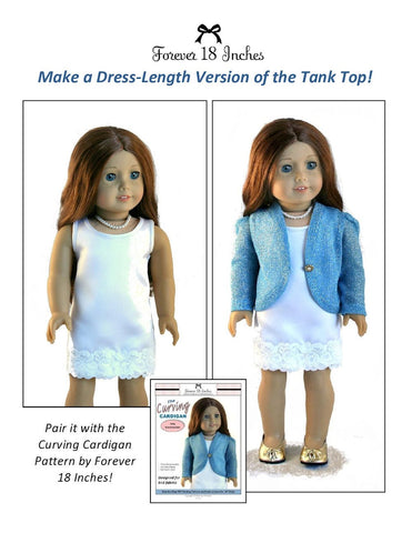 "Forever 18 Inches 18 Inch Modern NOT!  For Knits Tank Top 18"" Doll Clothes Pixie Faire"