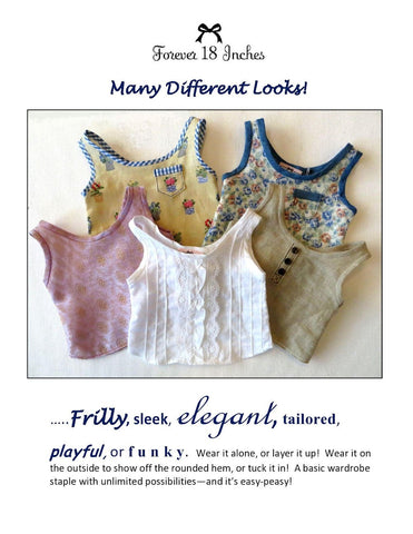 "NOT!  For Knits Tank Top 18"" Doll Clothes"