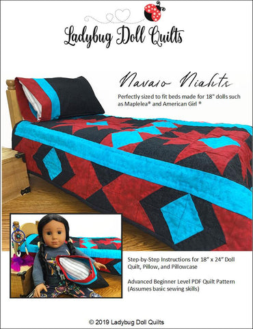 "Navajo Nights 18"" Doll Quilt Pattern"