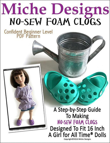 Miche Designs A Girl For All Time No-Sew Foam Clogs for AGAT Dolls Pixie Faire
