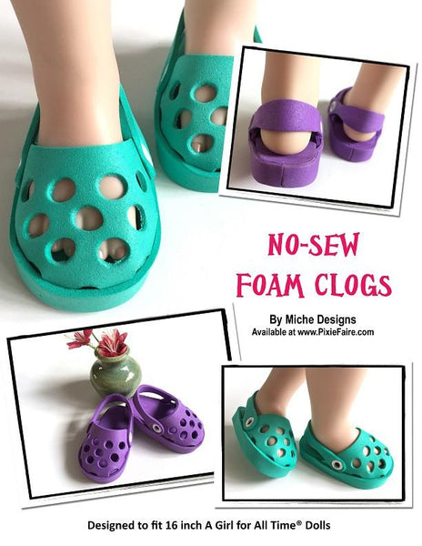 Miche Designs No Sew Foam Clogs Doll Clothes Pattern 16