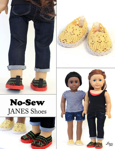 "No Sew Janes 18"" Doll Shoes"