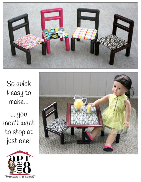 Aptone8 No Sew Side Chair Pvc Pattern 18 Inch Dolls Such