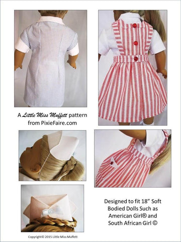 "Nurse Candy - On Call 18"" Doll Clothes Pattern"