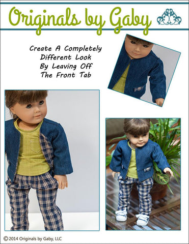 "Snappy Little Jacket Bundle 15"" and 18"" Doll Clothes Pattern"