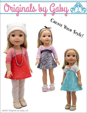 "Tri-City Knit Dress 14-14.5"" Doll Clothes Pattern"