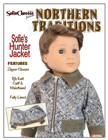 "Sofie's Hunter Jacket 18"" Doll Clothes Pattern"