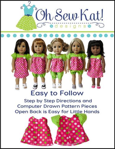 "Bloomer Buddies 18"" Doll Clothes Pattern"