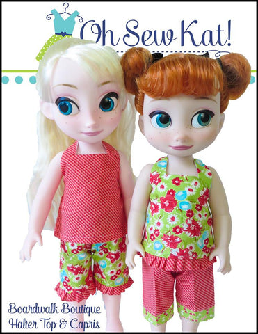 Boardwalk Boutique Halter Top & Capris for Disney Animators' Dolls