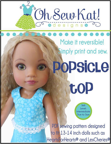 Popsicle Top Pattern for Les Cheries and Hearts for Hearts Girls Dolls