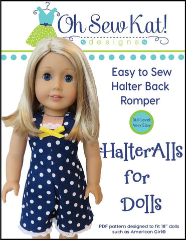 "Oh Sew Kat 18 Inch Modern HalterAlls for Dolls 18"" Doll Clothes Pixie Faire"