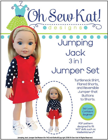 "Jumping Jack 14.5"" Doll Clothes Pattern"