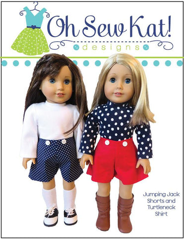 "Jumping Jack 3 in 1 Jumper Set 18"" Doll Clothes Pattern"