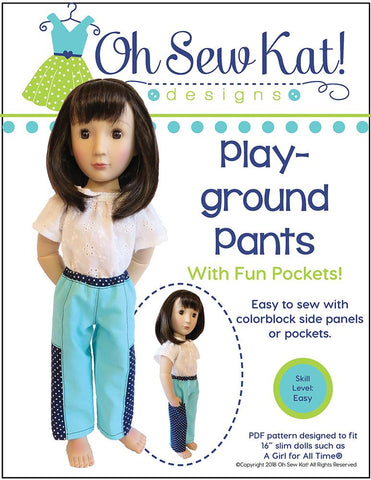 Oh Sew Kat A Girl For All Time Playground Pants Pattern For A Girl For All Time Dolls Pixie Faire