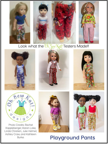 "Playground Pants 14.5"" Doll Clothes Pattern"